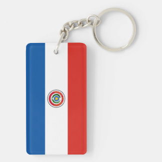 Paraguay country flag nation symbol key ring