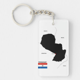 paraguay country political map flag key ring