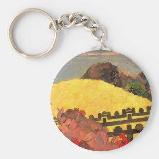 'Parahi Te Marae' - Paul Gauguin Basic Round Button Key Ring