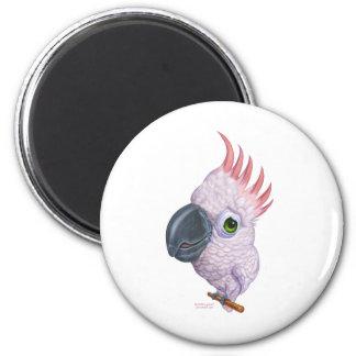 Parakeet 6 Cm Round Magnet