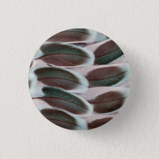 Parakeet Wing Feather Design 3 Cm Round Badge