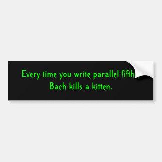 Parallel Fifths Bumper Sticker