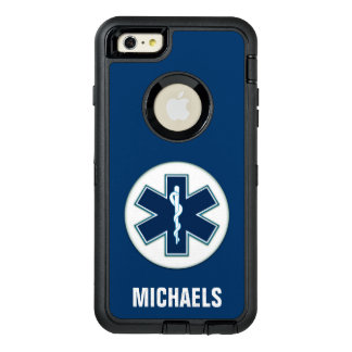 Paramedic EMT EMS with Name OtterBox Defender iPhone Case