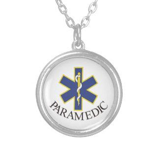Paramedic Round Pendant Necklace
