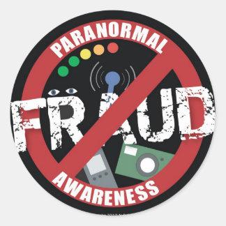 Paranormal Fraud Awareness Classic Round Sticker