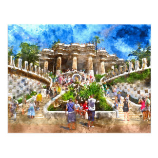 Parc Guell in Barcelona Spain Postcard