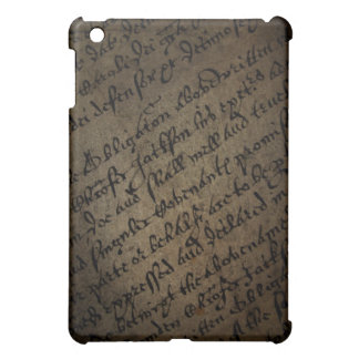 Parchment text with antique writing, old paper iPad mini cover