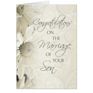 Parents of the Groom Wedding Congratulations Card
