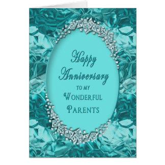 PARENT'S WEDDING ANNIVERSARY- Blue Ice Card