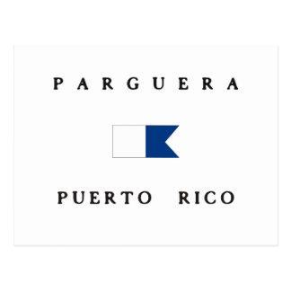 Parguera Puerto Rico Alpha Dive Flag Postcard