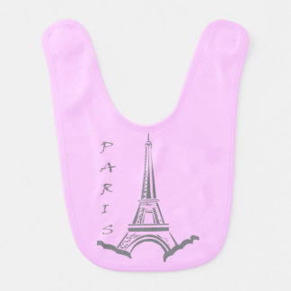 Paris and Eiffel tower in pink Bib
