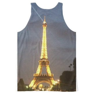 Paris at Night: Eiffel Tower All-Over Print Tank Top