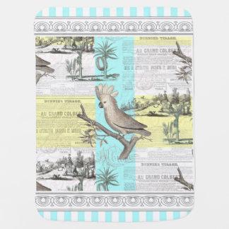 Paris Cockatoo Tropical Dream Baby Blanket