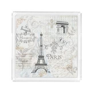 Paris Collage Travel Art Perfume tray