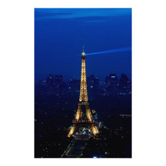 Paris Eifel Tower At Night Stationery