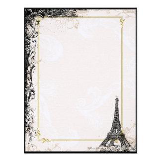 Paris Eiffel Tower & Grunge Personalized Invite