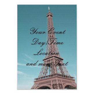 "Paris Eiffel Tower 3.5"" X 5"" Invitation Card"