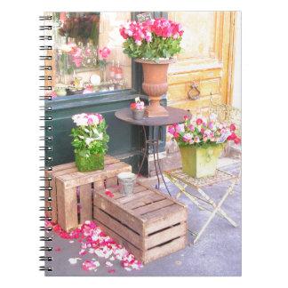 Paris Flower Shop Spiral Notebook