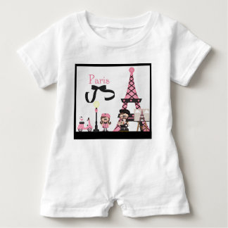 Paris France French Vacation Eiffel Tower Baby Bodysuit