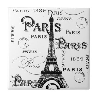 Paris France Gifts and Souvenirs Small Square Tile