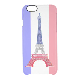 Paris French Flag Eiffel Tower Clear iPhone 6/6S Case