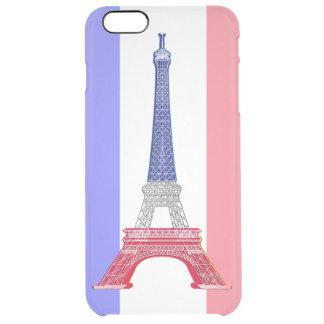 Paris French Flag Eiffel Tower Clear iPhone 6 Plus Case