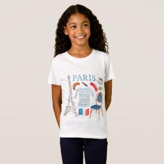 Paris French Watercolor Doodles Shirt