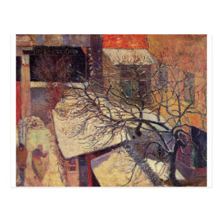 Paris in the snow by Paul Gauguin Postcard