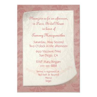 Paris Inspired Bridal Shower Invitation