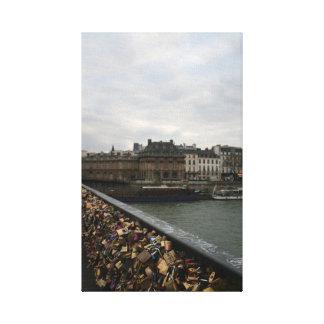 Paris Love Bridge - Pont de l'Archeveche Stretched Canvas Prints