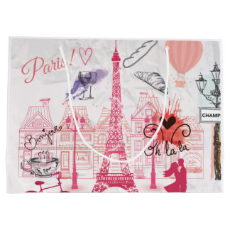 Paris magic large gift bag