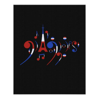 Paris Musical Notes 11.5 Cm X 14 Cm Flyer