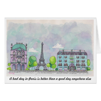 Paris Notecard Note Card