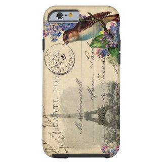 Paris Postcard Bird on Lilacs Case Tough iPhone 6 Case