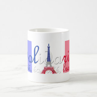 Paris/Solidarité/Liberté/French Flag Coffee Mug