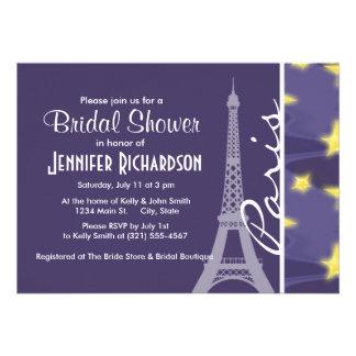 Paris Starry Night Eiffel Tower Custom Announcement