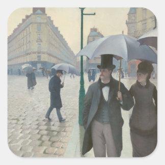 Paris Street; Rainy Day AKA Paris: A Rainy Day Square Sticker