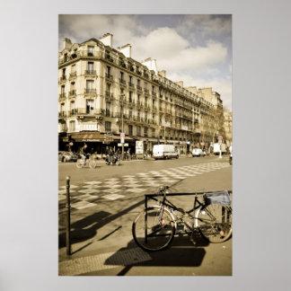Paris Street with Bicycle Print