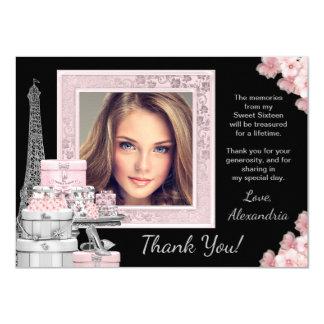 Paris Sweet 16 Thank You Cards 11 Cm X 16 Cm Invitation Card
