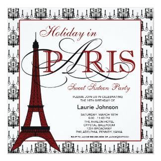 Paris Sweet Sixteen Party Card