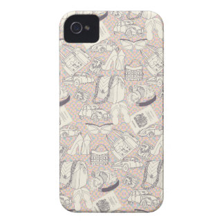 Paris Vacation Fashion Cars Pattern Case-Mate iPhone 4 Cases