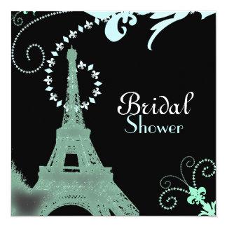 Paris Vintage Bridal Shower Tea Party Invitaiton Custom Invitations