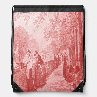 Parisian Afternoon Drawstring Bag