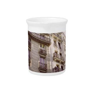 Parisian Architecture, Pink Pastel Photograph Drink Pitcher