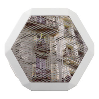 Parisian Architecture, Pink Pastel Photograph White Bluetooth Speaker