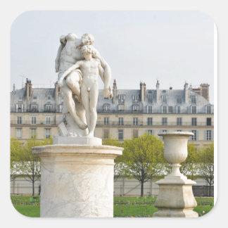 Parisian architecture square sticker