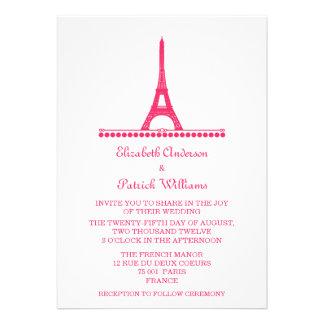 Parisian Chic Wedding Invite Pink
