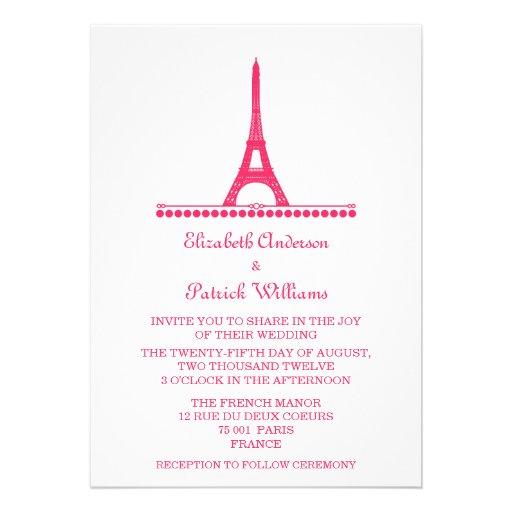 Parisian Chic Wedding Invite, Pink