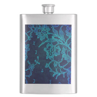 Parisian Feminine Victorian Gothic Navy Blue Lace Flasks