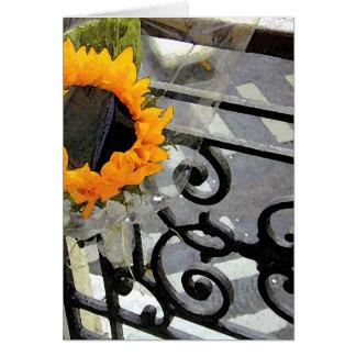 Parisian Sunflower Card